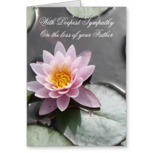 Loss of Father - With Deepest Sympathy Card