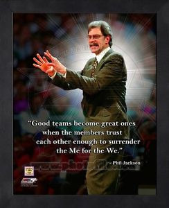 Surrender The For Phil Jackson Teamwork Quote