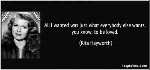 More Rita Hayworth Quotes