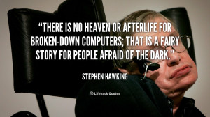 There is no heaven or afterlife for broken-down computers; that is a ...
