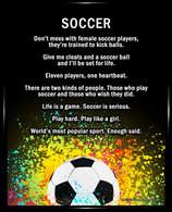 Framed Soccer Female Player 8x10 Poster Print