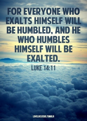 lesson in humility