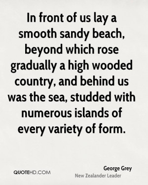 In front of us lay a smooth sandy beach, beyond which rose gradually a ...