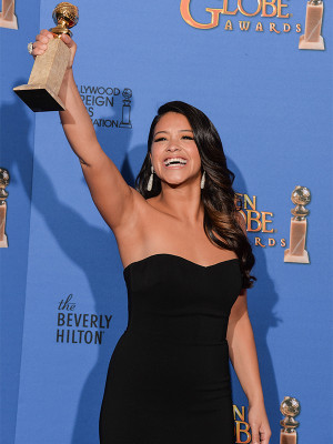 """... can and I will' Well, Dad, I can and I did."""" — Gina Rodriguez"""