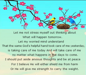 prayers for strength on stress