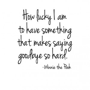 Winnie the Pooh Vinyl Wall Quote - Wall Words - How Lucky I am To Have ...