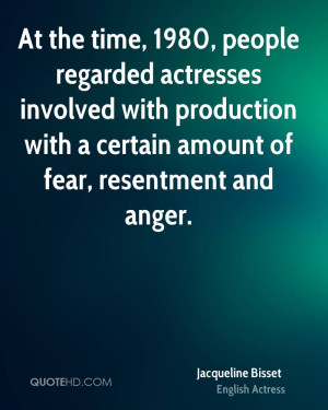 At the time, 1980, people regarded actresses involved with production ...