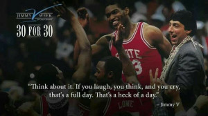 Jimmy V inspirational quote