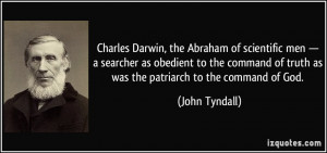 Charles Darwin, the Abraham of scientific men — a searcher as ...