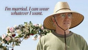 Larry David quotes, like my dad's bee keepers hat.