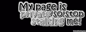 Quotes And Pictures About Facebook Stalkers