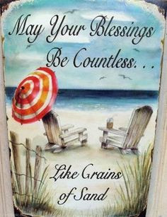 ... be Countless summer quote beach vacation sand blessing thankful