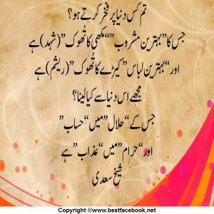 Hazrat Sheikh Saadi Quote About World