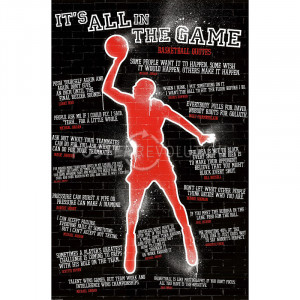 It's All in the Game (Basketball Quotes) Sports Poster