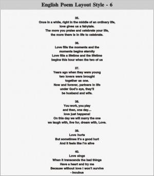 English Poem Layout - 6