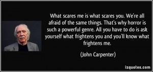 More John Carpenter Quotes