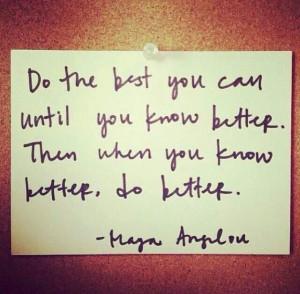 know better, do better