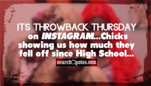 Its Throwback Thursday on Instagram...Chicks showing us how much they ...