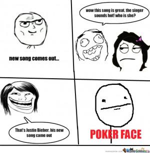 poker face meme