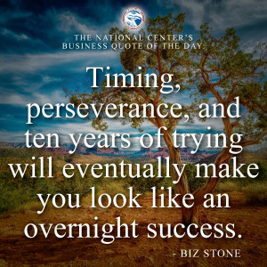 "... eventually make you look like an overnight success."" — Biz Stone"