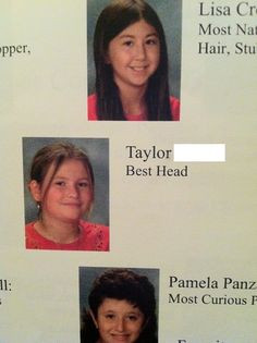 Sixth grade yearbook fail...