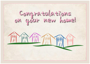 on your new home card congratulations new born baby boy