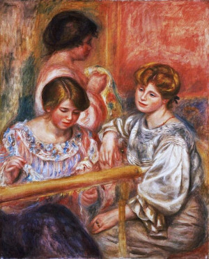 Pierre Auguste Renoir (French artist, 1841-1919) Embroiderers detail ...
