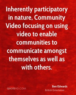 Inherently participatory in nature, Community Video focusing on using ...