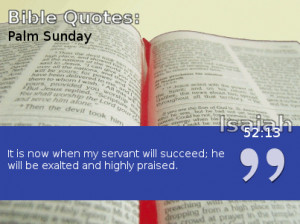 Palm Sunday Quotes by Famous Christians and the Bible