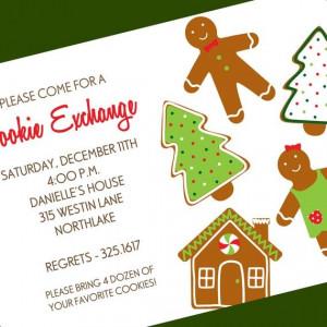 Cookie Exchange Holiday Digital Invitation, Custom Wording, Print ...