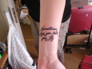 flying angel tattoos
