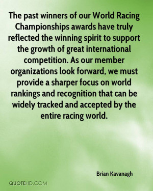 our World Racing Championships awards have truly reflected the winning ...