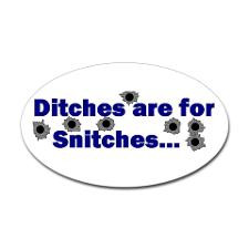 STOP SNITCHING Oval Sticker for