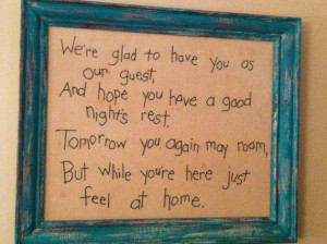 Guest Room Decor Wall Hanging Embroidered by JuneCleaversPearls, $16 ...