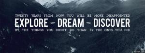 Explore Discover Dream facebook cover