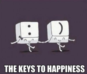 courttio, cute, funny, happiness, key, keyboard, lol, meme, smile ...