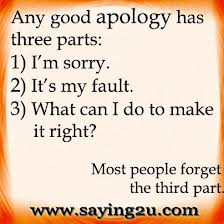 Any Good Apology Has Three Parts, I'm Sorry. It's My Fault, What ...