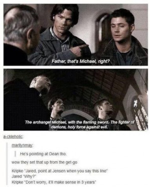Sam And Dean. Michael .Angel