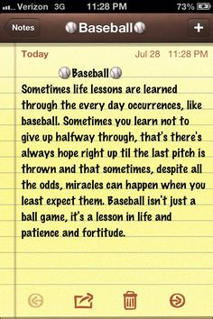baseball quote more i m quotes brane direction today random things day ...