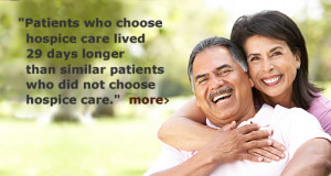 Patients who chose hospice care lived 29 days longer than similar ...