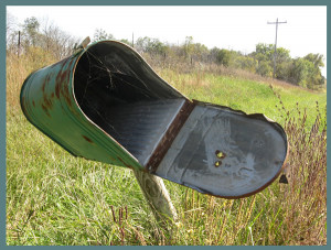 Cobweb mailbox