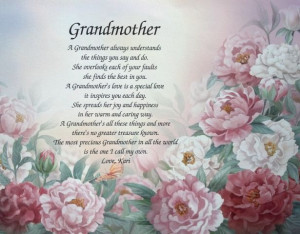 Grandma Birthday in Heaven Poem | Personalized Grandmother Poem