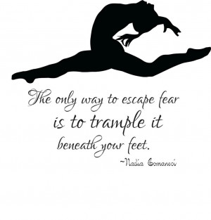 Details about Gymnastics Kids Wall Decal   Nadia Comanei Quote 22