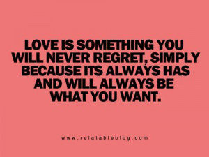 Love IS what I want