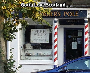 Haircuts in Scotland…