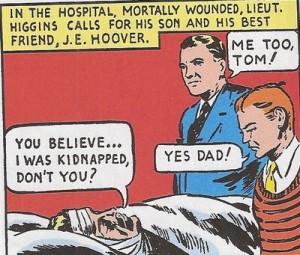 Edgar Hoover in comic book