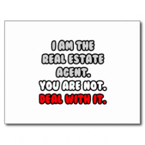 Deal With It ... Funny Real Estate Agent Post Card