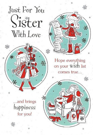card sister christmas cards to my sister at christmas merry christmas ...