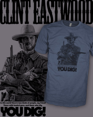 Clint Eastwood Movie T-Shirt - The Good The Bad The Ugly - Scoop V ...