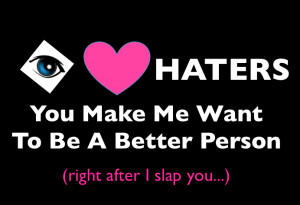 ... ve ever blogged, tweeted or posted on Facebook , you've had a hater